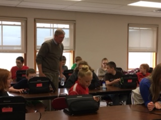 Licking County Library met with all 6th graders recently to give them library cards and information.
