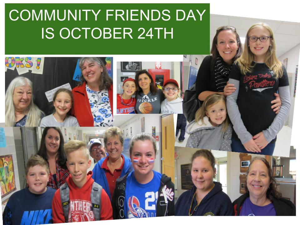 Community Friends Day is October 24th