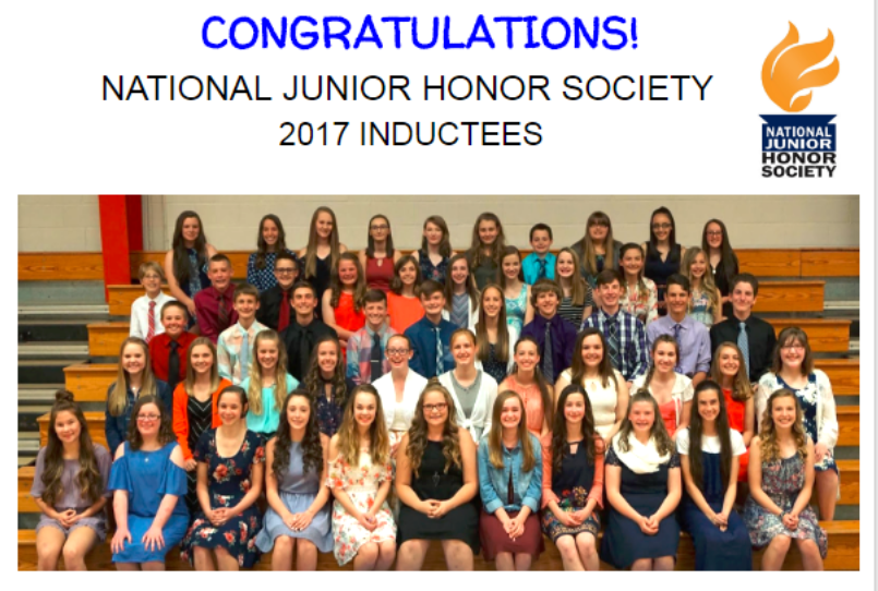 National Junior Honor Society Inductees 2017