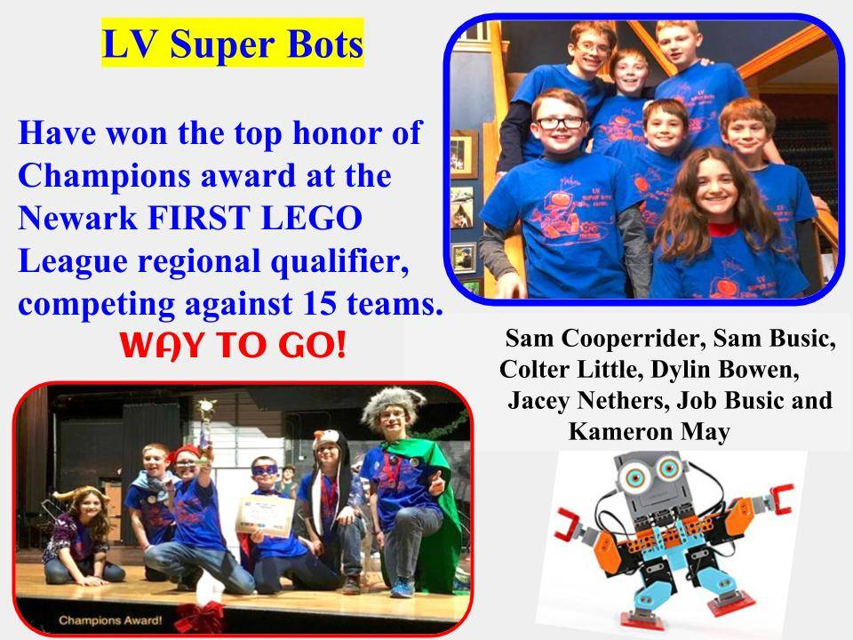 LV Superbots Lego Robotics Team wins top award