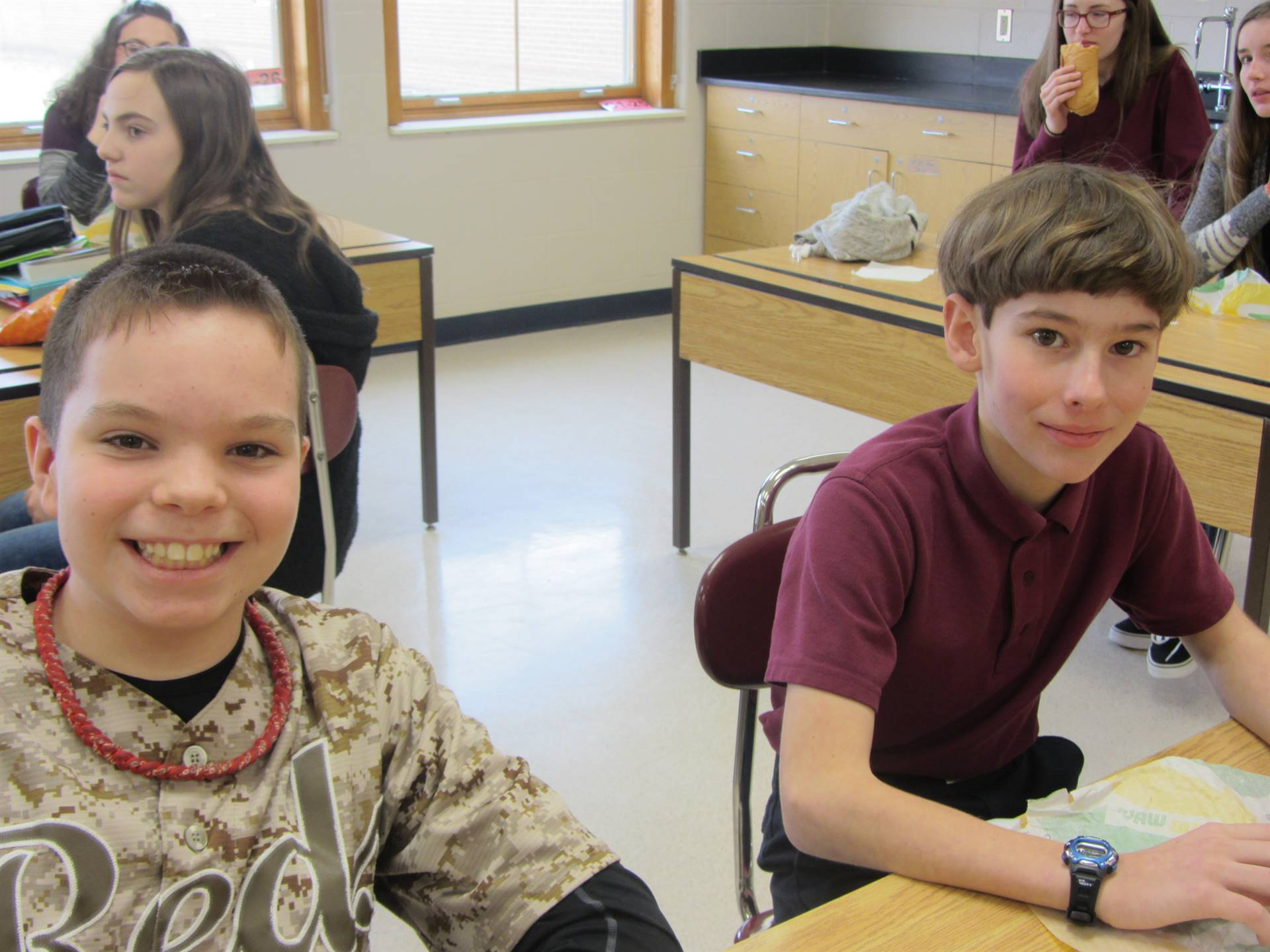Student Ambassadors hosted students from Blessed Sacrament and St. Francis