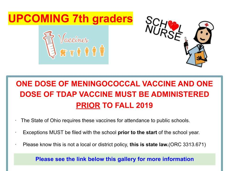 Upcoming 7th graders must be vaccinated