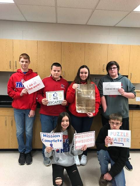 Mr. Hageman's Escape Room Challenge Winners