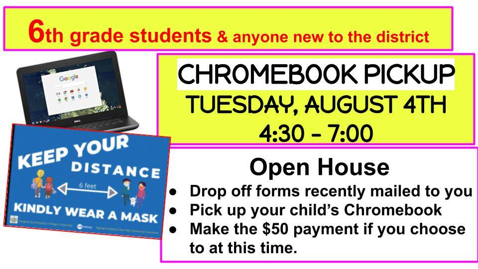 Chromebook pick up August 4