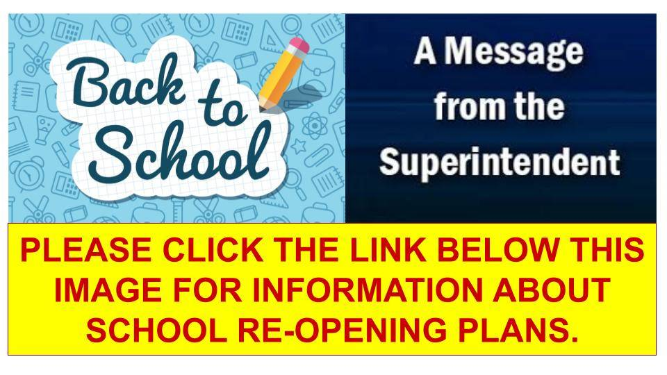 Back to school message from supt
