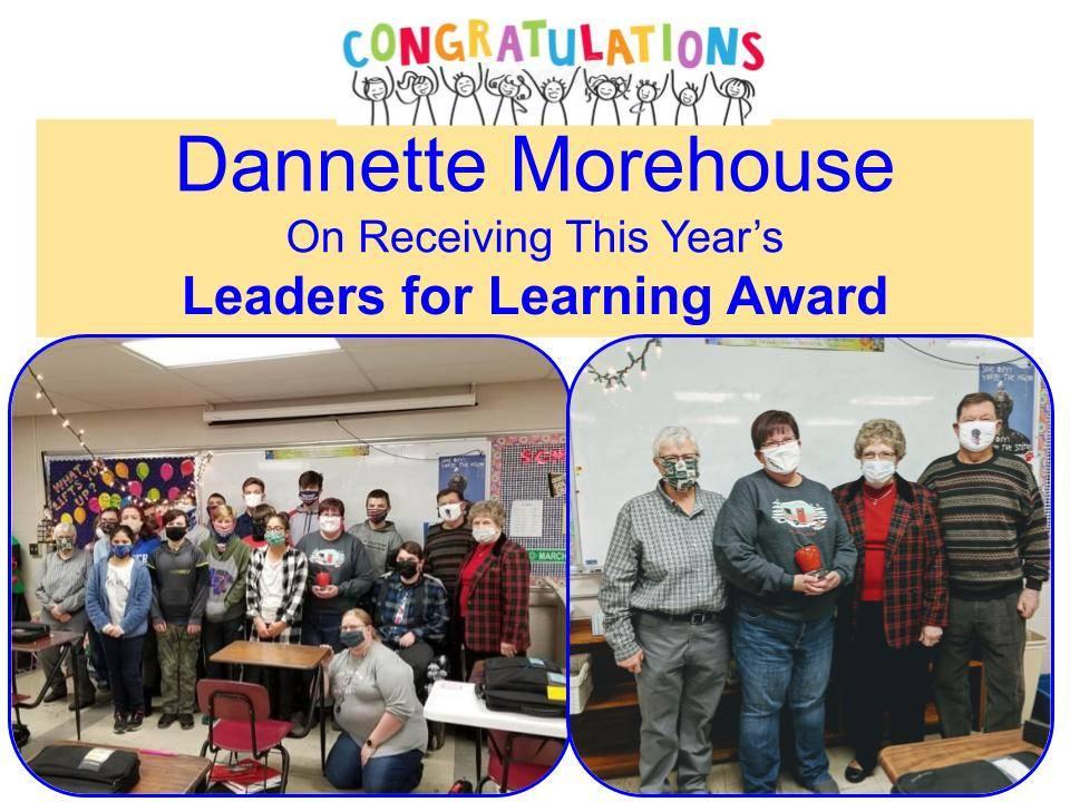 Dannette Morehouse Winner of Award