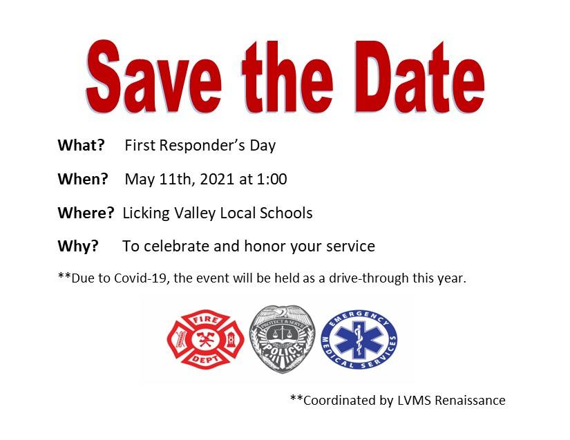 Save The Date.  First Responders' Day May 11